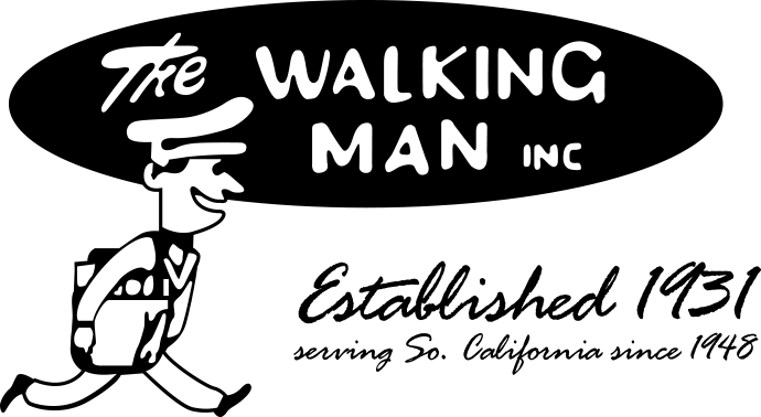 the walking man logo